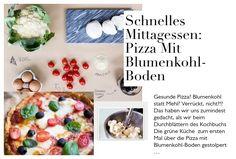 Schnelles Mittagessen:  Pizza mit Blumenkohl-Boden