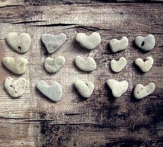 heart beach rock collection. collector.