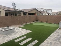 Backyard Arizona, Desert Backyard, Backyard Patio Designs, Small Backyard Landscaping, Landscaping Ideas, Outdoor Putting Green, Terrazzo, Landscape Design, Garden Design