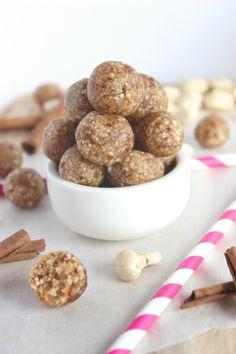 Healthy, No-Bake Snickerdoodle Energy Bites