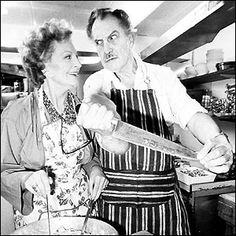 Vincent Price with wife, Coral Browne