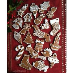 Gingerbread Ornaments… Gingerbread Christmas Tree, Gingerbread Ornaments, Christmas Tree Ornaments, Gingerbread Cookies, Christmas Fun, Christmas Decorations, Holiday, Dough Ornaments, Iced Sugar Cookies