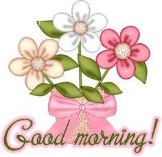 Good Morning com Flores #goodmorning bom dia ingles