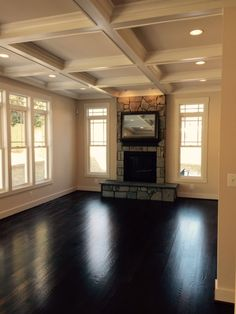 Coffered ceilings = the new definition of cozy. Kristina Bianchetta - 571-388-3138 - www.SoldontheSilverLine.com #Arlington #luxury #homes #realestate