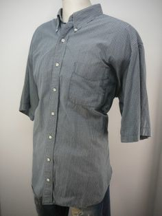 BRITCHES - MENS - shirt - 2X - Free Shipping - casual plaid button up front SS #Britches #ButtonFront