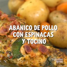 Abanico de pollo con espinacas In just 8 minutes you will have your meal ready … Prepare this delicious FAN of with Y Easy Cooking, Cooking Recipes, Healthy Recipes, Cooking Courses, Cooking Bacon, Deli Food, Good Food, Yummy Food, Le Chef