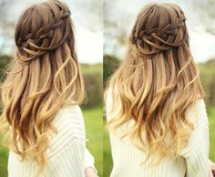 When ladder braid styel meet with ombre color