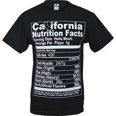 California Nutrition Facts Mens Shirt ShirtBANC Seal of Approval - Nothing Basic 100% Durable and Comfortable Cotton - Hassle Free Returns and Exchanges california shirt - 420 shirt - nutrition shirt - ca shirt - state flag shirt - ca state flag shirt - state of mind shirt - beach shirt - golden state shirt - hip hop shirt - los angeles shirt - la shirt - street gear - weed shirt - bud shirt {affiliate link} http://amzn.to/2kow3eY