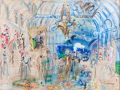 Raoul Dufy et le Bonheur de vivre au Palais Lumière d'Évian Watercolor And Ink, Watercolor Paintings, Watercolors, Raoul Dufy, Art Fauvisme, Art Deco Paintings, Art Folder, Monet, Inspiration Art