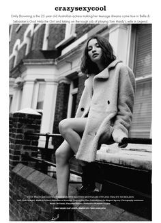 emily browning is crazy, sexy, cool Emily Browning, Autumn Inspiration, Style Inspiration, Matteo Montanari, Black White, Couture, Fashion Shoot, Cool, Beautiful People