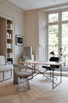 Home office design - Friday Inspiration Summer Come Faster! – Home office design Office Interior Design, Home Office Decor, Office Interiors, Home Decor, Office Ideas, Modern Interiors, Home Office Colors, Home Office Lighting, Studio Interior