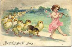 Divided Back Postcard Best Easter Wishes With Chicks Easter Peeps, Easter Art, Easter Crafts, Easter Chick, Easter Stuff, Happy Easter, Easter Bunny, Vintage Easter, Vintage Holiday
