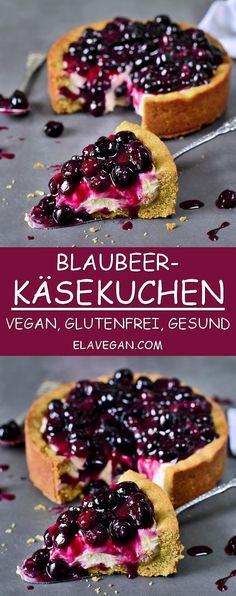 Veganer Blaubeerkuchen Rezept gesund glutenfrei