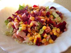 Salata cu sfecla rosie si porumb