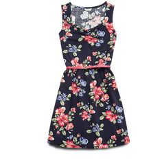 FOREVER 21 GIRLS Fresh Floral Print Dress (Kids) ($14) ❤ liked on Polyvore