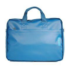 """praktische Laptoptasche für 17"""" Notebooks von """"BREE"""" in schönem """"blau"""" mit vielen Fächern und einer intelligenten Trolleyaufsteckfunktion"""