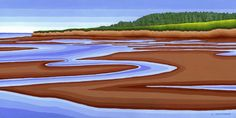 Canoe Cove PEI - Acrylic Painting by Susan Christensen My Happy Place, Canoe, Landscapes, Art Gallery, Graphic Design, Artists, Island, Studio, Places
