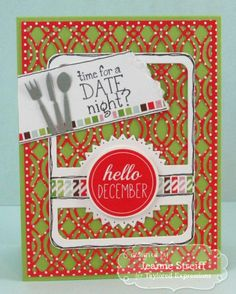 Date Night? Card by Jeanne Streiff #Cardmaking, #PocketsandPages, #LittleBitsDies, #CuttingPlates, #TE, #ShareJoy