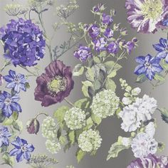Alexandria wallpaper collection from Designers Guild is a gorgeous illustrated botanical wallpaper which is printed on a beautiful non woven paper for easy washing and hanging. Wallpaper Samples, Wallpaper Online, Pattern Wallpaper, Framed Wallpaper, Designers Guild Wallpaper, Designer Wallpaper, Tricia Guild, Boutique Deco, Botanical Wallpaper