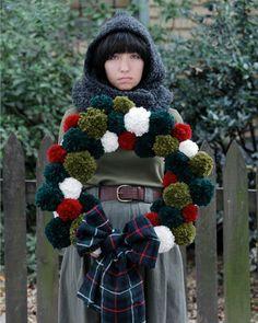 Pom pom wreath inspiration