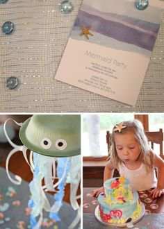 Mermaid parties have become pretty popular on Pinterest. Here's a link to many, many more ideas!