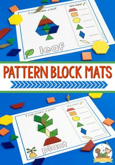 Printable Pattern Block Mats for Preschoolers. Pattern block mats are about so much more than just teaching shapes in preschool. Using pattern block mats introduces kids to geometry. Creative Curriculum Preschool, Free Preschool, Preschool Printables, Preschool Boards, Preschool Letters, Preschool Ideas, Free Pattern Block Printables, Pattern Blocks, Teaching Shapes