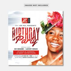 Birthday Flyer, Birthday Party Design, Church Graphic Design, Graphic Design Brochure, Social Media Poster, Social Media Design, Event Poster Design, Flyer Design, Web Design