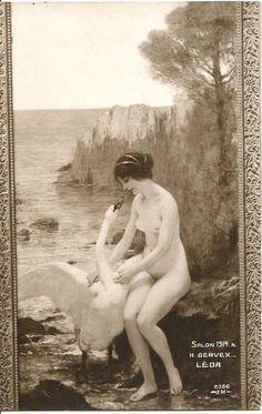 Gervex - Leda with a swan