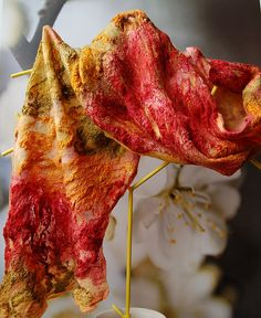 Silk noil and merino scarf | Flickr - Photo Sharing!