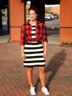 IE-Style: Buffalo Mix-Up - unique combos with a buffalo plaid shirt. I would not have thought of these outfits!