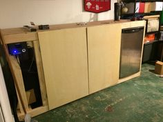 Dual Lager & Ale Fermentation Chamber PLUS Kegerator Build (pic intensive) Dorm Fridge, Brewing Supplies, Home Brewery, Ikea I, Built In Bar, Brownie Points, Homebrewing, Mead