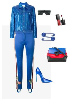 """""""Untitled #250"""" by stylistrr on Polyvore featuring Ashish, Casadei, Versace, Smashbox and Yves Saint Laurent"""