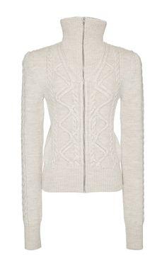 Ecru Zermatt Knit Dixon Cardigan by ISABEL MARANT Now Available on Moda Operandi