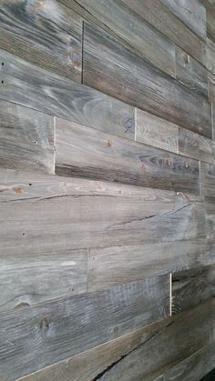 Pallet wall Basement - Introducing our new Barnwood Grey prefab wall panels. Wood Plank Walls, Wooden Walls, Barnwood Paneling, Prefab Walls, Grey Family Rooms, Wooden Accent Wall, Barn Wood Projects, Ship Lap Walls, Grey Wood