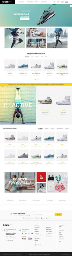 Techmarket is clean and modern design responsive bootstrap HTML5 template for stunning #shoes store #eCommerce website with 14 unique homepage layouts to live preview & download click on Visit  #shoeslover #webdesign