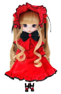 Muñeca Shinku 30 cm. Rozen Maiden. Pullip Estupenda réplica de la muñeca del personaje llamada Shinku de 30 cm que podemos ver en el exitoso manga/anime de Rozen Maiden. Una muñeca que sin duda te encantará si eres fan que es 100% oficial y licenciada.