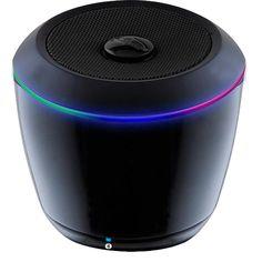 iLive ISB14B Portable Wireless Bluetooth Speaker - Black w/Color Change