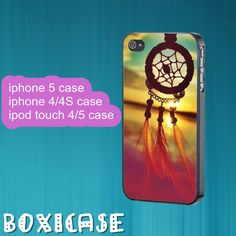Dream Catcher---iphone 4 case,iphone 5 case,ipod touch 4 case,ipod touch 5 case,in plastic,silicone and black,white. by Boxicase, $14.95