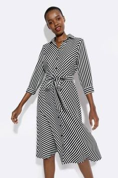 Stripe Shirt Dress - Dresses - Shop by Category - Ladies Mr Price Clothing, Fashion News, Kids Fashion, Striped Shirt Dress, Formal Shirts, Batwing Sleeve, Online Shopping Clothes, Kids Outfits, Wrap Dress