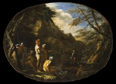 Salvatore Rosa Landscape with Armed Men ( 1640 )