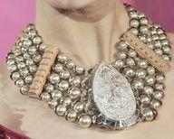 Choker style silver beaded