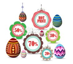 easter labels and badges for sale Royalty Free Stock Vector Art Illustration
