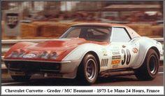 1973 Chevrolet Corvette  Chevrolet (? cc.)  Henri Greder  Marie-Claude Beaumont