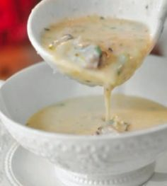 Cream of Oyster Soup, my mom makes this every christmas eve