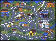 Blue Area Rug Jenny Collection Children Rug