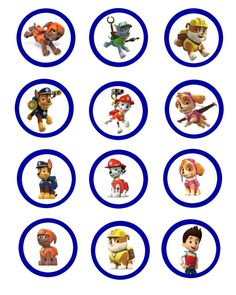 cool Unbelieveable Paw Patrol Cupcake Toppers Images