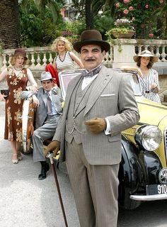 David Suchet as Hercule Poirot in Agatha Christie's, 'The Murder On The Blue Train', 2006.