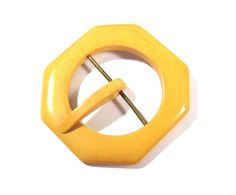 Learn more about ** Butterscotch Catalin Bakelite Buckle VINTAGE Creamed Corn Yellow BAKELITE Buckle Bakelite Trend Stitching Jewellery Provides (L205)