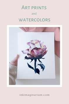 If you love botanical watercolors, and specially flowers, this can be the perfect wall decoration for you! A simple yet sophisticated rose with beautiful tonalities and the delicathy of watercolor. Click to visit the shop or pin to save for later! All painted by the visual artist Laura Manteca martin from Ink Imaginarium.  #inkimaginarium #ink-imaginarium #watercolorart #watercolorrose #watercolorflower #watercolorlove #wallartprint #artdecoration #decorativeart #artisticprint #botanicalart Botanical Illustration, Botanical Prints, Watercolor Illustration, Wall Art Decor, Wall Art Prints, Fine Art Prints, Watercolor And Ink, Watercolor Flowers, Floral Wall Art