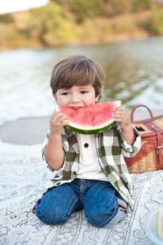 Watermelon at the lake